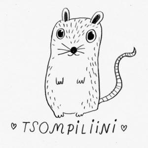 Pelottavan suloinen Tsompiliini-hiirulainen.