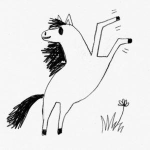 Villi hevonen kirjasta Puluboi