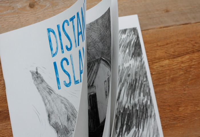Pages from the art zine Distant Island
