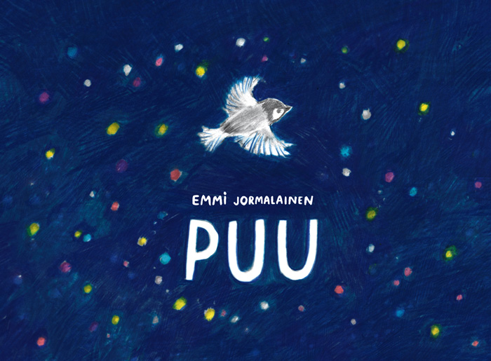 Cover image for Silent Book Puu with Stars and a bird